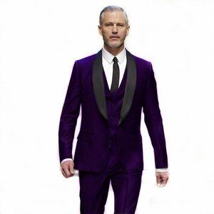 Classic One Button Handsome Groomsmen Shawl Lapel Groom Tuxedos Men Suits Wedding Prom Best Man Blazer ( Jacket+Pants+Vest+Tie) W586