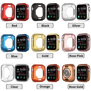 Full Protection TPU plating Silicone Soft Case for Apple Watch iWatch Series 4 5 Cover 44mm 40mm Plating TPU octagon Case