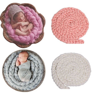 Hand-woven Braids Baby Blanket Photo Background Blankets Children's Photography Props Newborns Baby Room Decoration Accessories 200928