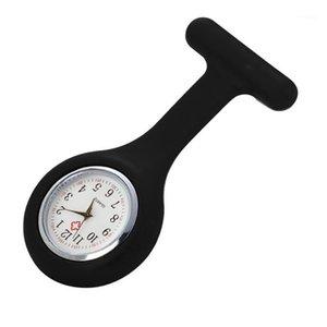 Relógios de relógios de bolso de moda relógios de silicone relógio broche túnica fob com bateria livre Reloj de Bolllo J61