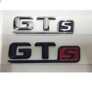 Pour Mercedes Benz Amg Chrome Black Red Lettres GTS Mots GT S Voiture Couvercles de coffre à lèvres Badge avant Emblème Emblèmes Badges Sticker Décalque