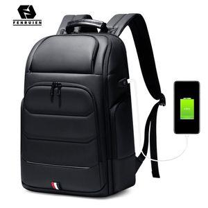 Fenruien sacs à dos étanche sac d'école de recharge USB hommes anti-vol sac à dos Fit 15,6 pouces pour ordinateur portable à haute capacité de 201006 Voyage