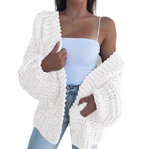 Kadın Triko Moda Hırka Bat Coat Casual Sonbahar Uzun Kollu Peluş Gevşek Artı boyutu Sweaters Kabanlar 2020 Yeni Toptan Tops Womens
