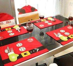 Рождественский стол Mat украшения Товары для дома Hotel Restaurant Украсьте Таблица Маты 45см * 33см Креативный рождественские украшения продукта