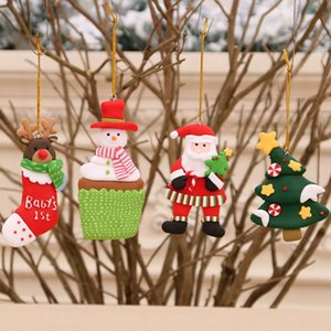 Christmas Wooden Pendants Xmas Tree Hanging Ornaments Fridge Magnets DIY Wood Crafts For Home Christmas Party New Year Decorations BC BH4240