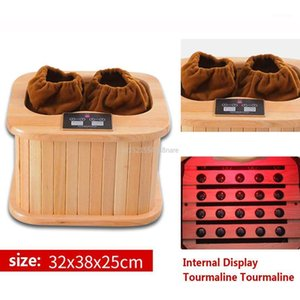 Far infrared wood Foot Sauna spectrum therapy barrel full automatic massage heating barrel Canadian hemlock1