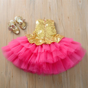 1-4y Toddler Newborn Baby Kids Girl Princess Dress Sequins Ruffles Wedding Bridesmaid Party Pageant Tutu Dresses F sqcuJe