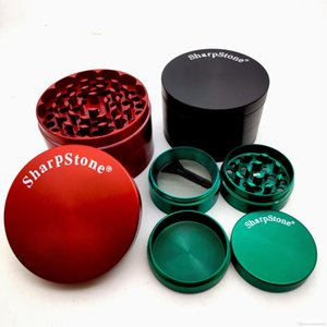 SharpStone Tobacco Grinders herbal Crusher 4 Piece Grinders Spice Crusher Cigarette Machine 40mm 50mm 55mm 63mm for smoking pipes