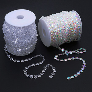 30M Diamond Strand Acrylic Crystal Bead Curtain Wedding Party Marry Decoration