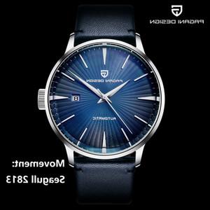 2021PAGANI DISEÑO PD 2770 del cuero reloj clásico mecánico de los hombres hombres de los relojes de pulsera gaviota 2813 automática 100M Reloj impermeable