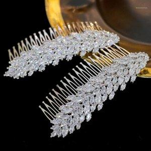 Asnora Accesorios para el cabello de la boda de Asnora Accesorios de cabello nupcial Novia Horquillas Dama de honor Zirconia1