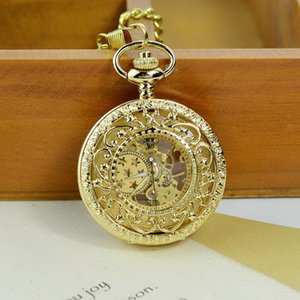 New Hollowed Out Carved Zk01 Flip Over Mechanical Sweater Necklace Hanging Men and Women Students Pocket Watch