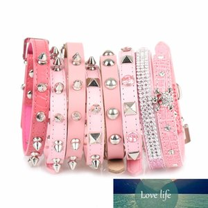 PipiFren Pink Small Dogs Collars Cat Rhinestone For Pet Puppy Collar Chihuahua Necklace katten halsband collier chat animaux