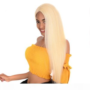 Full Lace Wig 613# Blonde Swiss HD Transparent Lace Frontal Wigs with Baby Hair Glueless Brazilian Full Lace Virgin Human Hair Wigs