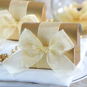 Golden Treasure Boxes Favors Candy Boxes Chocolate Holder Wedding Favours Event Gift Package Boxes Anniversary Baking Supplies