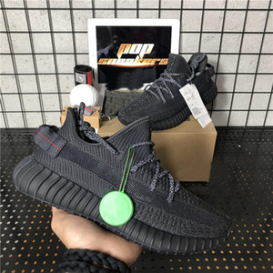 Top quality Kanye West Men Women Running Shoes Tail light Static reflective Oreo Desert Sage Earth Linen StaZebra Trainers Sneakers with Box