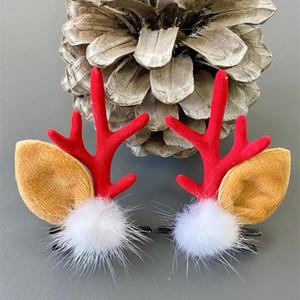 1 Pair Children Christmas Antler Hairpin Girls Funny Hair Ornaments Deer Ears Headdress christmas headband hair clip