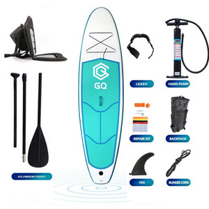 290x76x10cm Stand up Paddle Board Set Inflatable Surfboard Portable SUP for Beginner Levels Kayak Seat With Backbag Complete Equipment