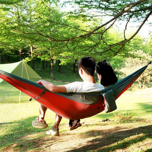 NEW 1-2 Person Outdoor Mosquito Net Parachute Hammock Camping Hanging Sleeping Bed Swing Portable Double Chair, 260 x 140cm