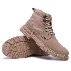 Yifeng autumn winter new high top labor protection shoes fashion and comfortable Suede Martin boots work
