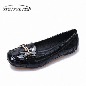 Women Shoes Comfortable Soft Bottom Pregnant Women Flat Flat Shoes Square Buckle Oxford Casual 2020 Spring Black Beige Red Loafers For juTE#