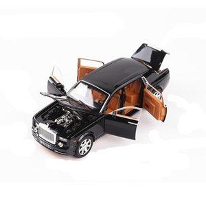 رولز رويس فانتوم مطول دييكاست سبيكة موديل السيارة كرافت المعارض لعبة أطفال هدية