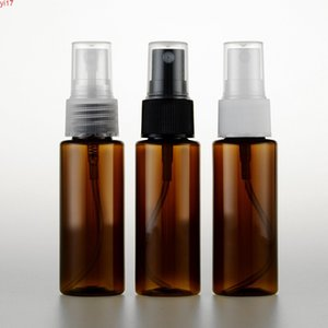 40ml brown color spray pump travel PET bottle for cosmetic packaging,1.4 oz plastic empty bottles liquid medicine 50pc lothigh qiantity