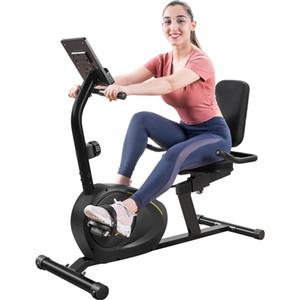 Stati Uniti Stock Recumbent Exercise Bike Cycling con 8 livelli di resistenza, Monitor Bluetooth, Easy Seat regolabile, 380lb Peso Capacità MS193107BAA