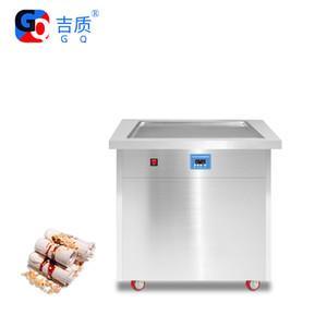 GQ-PF1S FOOD thailand rolled commercial pan hard stir fry ice cream machine,panci goreng es krim mesin ganda