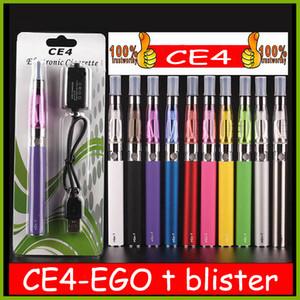 Kit de démarreur EGO CE4 Atomizer électronique Cigarette électronique E CIG KIT 650MAH 900MAH 1100MAH EGO-T Batterie Blister Clearomizer E-Cigarette DHL