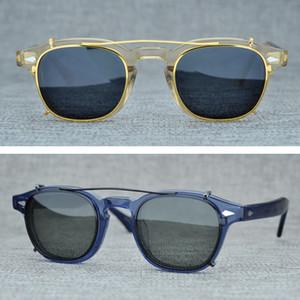2021Polarized Lunettes de soleil pour les hommes et les femmes, lunettes de soleil carrées vintage, rétroviseurs, lunettes de UV400