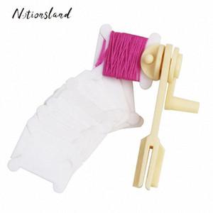 1PC Строка Winder30pcs Пластиковые Вышивка FlossCraft Катушки темы для Holder хранения Вышивка крестом Швейные инструменты Аксессуары 07Vm #