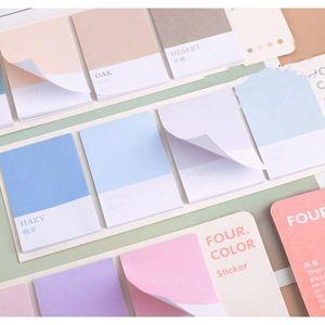 Mohamm Roue de quatre couleurs Série Kawaii Mignonne Notes Sticky Notes Memo Pad Diary Papeterie 80pcs F WmtheB