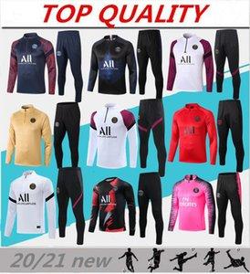 2020 2021 Fato de treino de futebol em Paris MBAPPE Sweatshirt de manga comprida 20/21 maillot de foot DI MARIA VERRATTI PSG Fato de treino de futebol para jogging