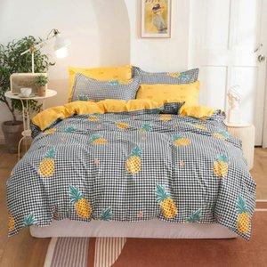 Svetanya Fruits Linge d'impression Literie Ensemble Simple Double Double Taille de la Reine (couverture duver + Feuille plate + taie d'oreiller)