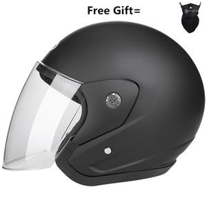 Nuoman Motorcycle Helmets Electric Bicycle Helmet Open Face Clear Lens Visors Men Women Scooter Motorbike Moto Bike Helmet1
