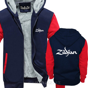 Allover ZILDJIAN CYMBALS & DRUMS thick jacket NEW Funny hoodie MEN Cotton warm coat sbz5275 X1022
