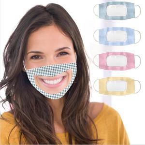 Глухонемой Face Mask дышащего Face Mask Дизайнер многоразовой маску с прозрачным окном Visible выражением для глухих слабослышащих BWC1588