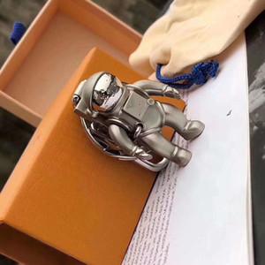 Вновь оформленные астронавт Ключ Кольцо Аксессуары Дизайн Ключ Кольцо Сплошной металл Автомобиль Ключ Подарочная Коробка Упаковка