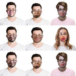 Máscaras WtSVk Laagste Womens La mitad de las máscaras de Halloween Disfraces para 3D mascarillas Prijs divertido del descuento Cosplay Reino Unido Impreso divertido de la cara Medio Am Xqpm