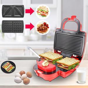 샌드위치 Panini Waffle 메이커 기계 웨이퍼 3 in 1 버블 계란 케이크 오븐 조식 전기 샌드위치 Panini 와플 메이커 기계