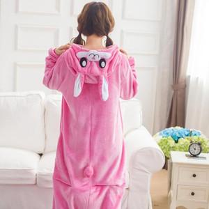 Adult Onesie Anime Women Costume Pink Halloween Cosplay Cartoon Animal Sleepwear Winter Warm Hooded Pajama1