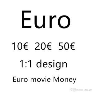 Euro En İyi Kalite Prop Para Kütük 10 20 50 100 200 500 Euro Sahte Film Para Para 100 adet / paket