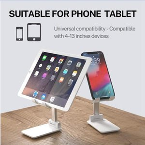Hot Sale Folding Desk Phone Stand Holder For iPhone iPad Universal Portable Foldable Extend Metal Desktop Tablet Table Stand 20pcs