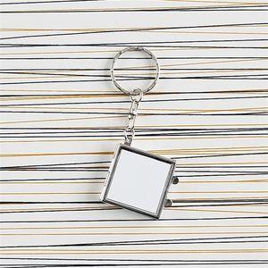 Metal Keyring Sublimação Em Branco Twosed HeartsHaped Impressão Redonda Chave Buckle Espelho Cosmético Keychains Womens Home Nova Chegada 3 2sy M2