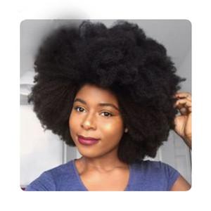Estilo Africano moda Curto Pixie Cut Preto Cabelo Perucas Afro Kinky Perucas Remy curto perucas de cabelo brasileiro