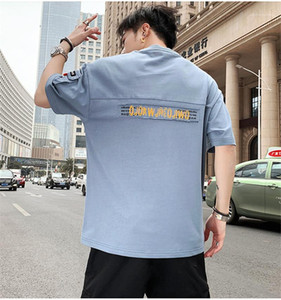 Man Half Sleeved T-shirt Summer Fashion Korean Version Short Sleeve Round Neck Tshirts Designer New Male Casual Tee Top Shirts Clothing