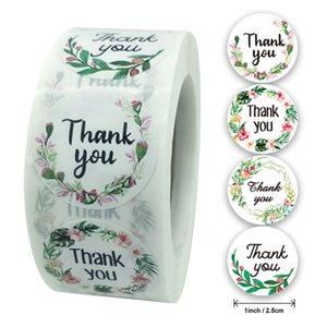 Круг Спасибо Наклейки Уплотнительные Этикетки Цветочные Пищевые Наклейки Ручной работы Канцтовары для поддержки моего малого бизнеса