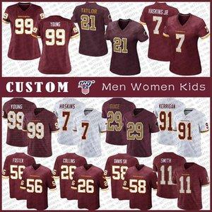 99 تشيس الشباب واشنطنRedskin الرجال مخصص للنساء للأطفال لكرة القدم جيرسي 56 روبن فوستر 17 تيري McLaurin اندون كولينز دواين هاسكينز
