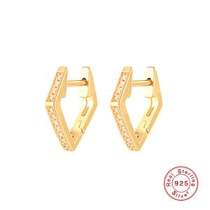 v3xyM SS925 стерлингового серебра кольца уха горячий продавать INS алмаз и earringsminimalist персонализированных бриллиантовые серьги студентку серебра уха